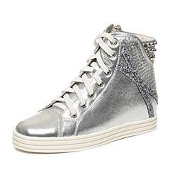 Teenmix/天美意专柜同款春银/银灰牛皮运动时尚女短靴6I640AD6