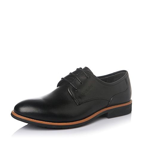 Teenmix/天美意春季黑色牛皮商务休闲绅士男皮鞋FA102AM6