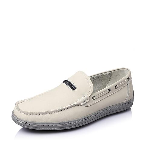 Teenmix/天美意春季白色牛皮男休闲鞋R9525AM6