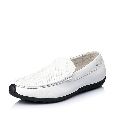 Teenmix/天美意2016夏季白色牛皮男单鞋F1191BM6