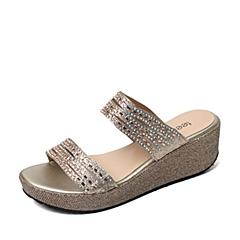 Teenmix/天美意夏季专柜同款黄金色布女鞋6VA02BT6