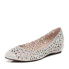 Teenmix/天美意春季专柜同款银色羊绒皮/牛皮女单鞋AM551AQ6