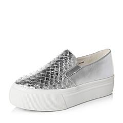 Teenmix/天美意秋专柜同款银色女单鞋6N621CM6