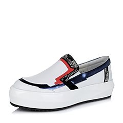 Teenmix/天美意秋白色牛皮革女单鞋38-27CM6