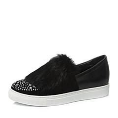 Teenmix/天美意秋季黑色女单鞋16068CM6