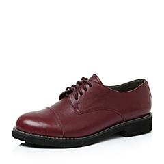 Teenmix/天美意秋酒红色牛皮革女单鞋797-4CM6