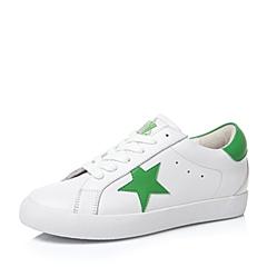 Teenmix/天美意秋白/绿色牛皮革女单鞋67069CM6