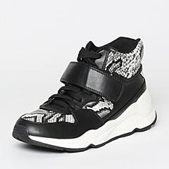 Teenmix/天美意冬季专柜同款黑/黑白/银色PU女休闲靴6R742DD6