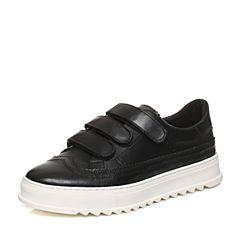 Teenmix/天美意秋专柜同款黑色软面牛皮舒适厚底男休闲鞋BCG01CM6