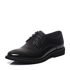 Teenmix/天美意春季专柜同款黑色牛皮男单鞋1VK0TAM6
