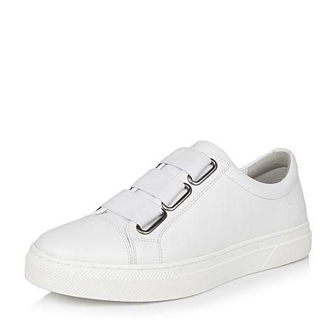 Teenmix/天美意春专柜同款白色软面牛皮男休闲鞋BGE04AM7