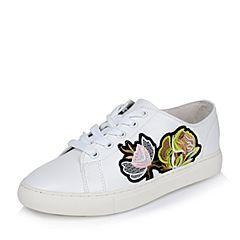 Teenmix/天美意春专柜同款白色牛皮女单鞋AO321AM7