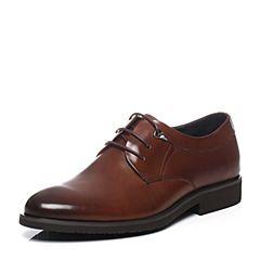 Teenmix/天美意2017夏季棕色牛皮商务正装男单鞋AP052BM7