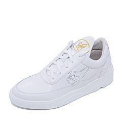 Teenmix/天美意2017专柜同款白色牛皮学院风情侣款男休闲鞋2DF01CM7炫舞联名款