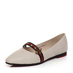 Teenmix/天美意2018春专柜同款白色牛皮小方跟玛丽珍鞋女单鞋AQ851AQ8