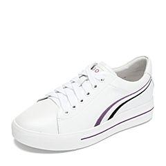 Teenmix/天美意2018秋专柜同款白色牛皮革撞色平跟小白鞋女休闲鞋AR841CM8