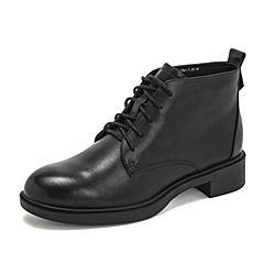 Teenmix/天美意2018冬专柜同款牛皮革女皮靴(绒里)CBE48DD8