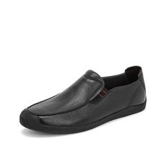 Teenmix/天美意2019春新款商场同款黑色软面牛皮革男休闲鞋BIW59AM9