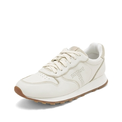 Teenmix/天美意2019春商场同款米色牛皮革女休闲鞋运动鞋CIE24AM9
