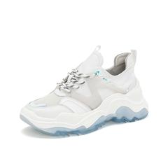 Teenmix/天美意2019春新款商场同款白色牛皮革女休闲鞋CHN22AM9