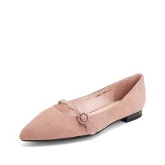 Teenmix/天美意2019春新款商场同款粉色羊绒皮革皮带扣女皮鞋单鞋CB507AQ9