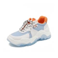 Teenmix/天美意2019春新款商场同款白色原宿老爹鞋运动鞋牛皮革女休闲鞋CHN21AM9