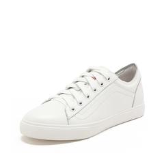Teenmix/天美意2019春新款商场同款白色牛皮革女休闲鞋AT261AM9