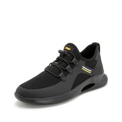 Teenmix/天美意2019春商场同款黑色纺织品男运动休闲鞋2MT01AM9
