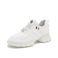 Teenmix/天美意2019春新品白色纺织品/胶片女旅游鞋休闲运动鞋TR269AM9