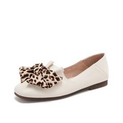 Teenmix/天美意2019春新款米白色韩版休闲气质牛皮革女皮鞋19030AQ9
