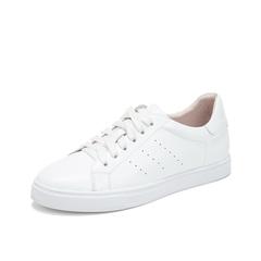 Teenmix/天美意2019春新款白色牛皮革女休闲鞋36903AM9