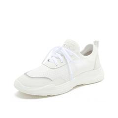 Teenmix/天美意2019春新品白色/银色纺织品/人造革女休闲鞋满帮鞋18103AM9
