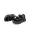 Teenmix/天美意2019夏新款商场同款黑色厚底松糕魔术贴女凉鞋AU421BL9