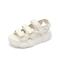 Teenmix/天美意2019夏新款商场同款米色厚底松糕魔术贴女凉鞋AU421BL9
