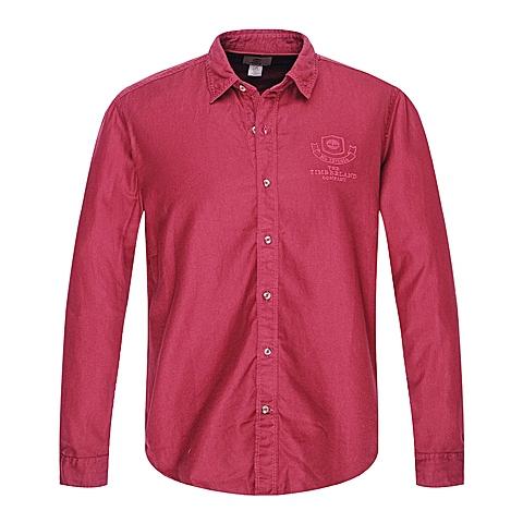 Timberland/添柏岚正品男款松露巧克力棕红色长袖纯色衬衣6715J