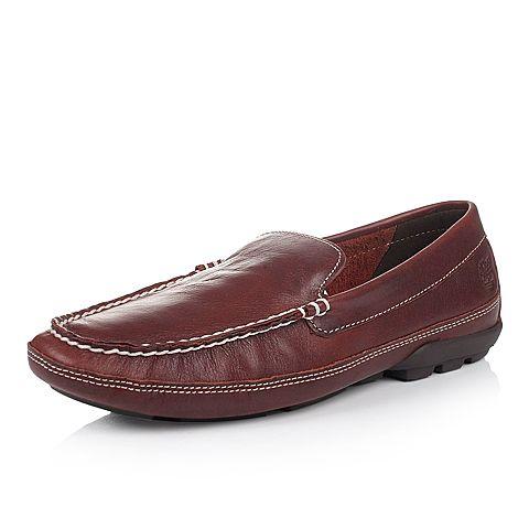 Timberland/添柏岚正品男款棕色皮革休闲单鞋6646A