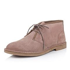 Timberland/添柏岚正品男款灰褐色 柔软的绒面革鞋面休闲低靴5504A
