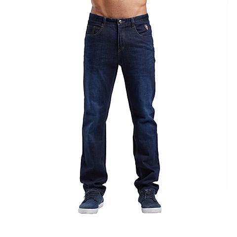 uspolo 美国马球协会男装男士牛仔裤长裤直筒休闲弹力牛仔裤 蓝色 U045LS