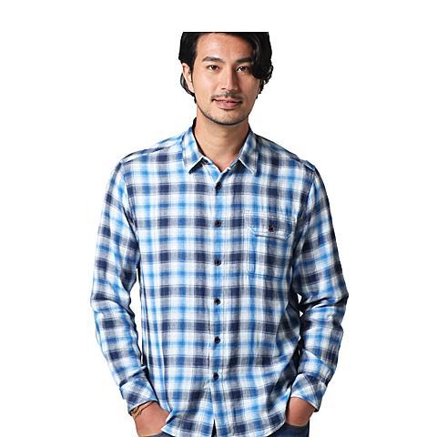 uspolo 美国马球协会新品男士衬衫男士舒适休闲格子衬衫 浅蓝 U040QL