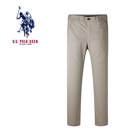 us polo 美国马球协会新款男士长裤商务休闲直筒裤 浅卡其 U014KQ