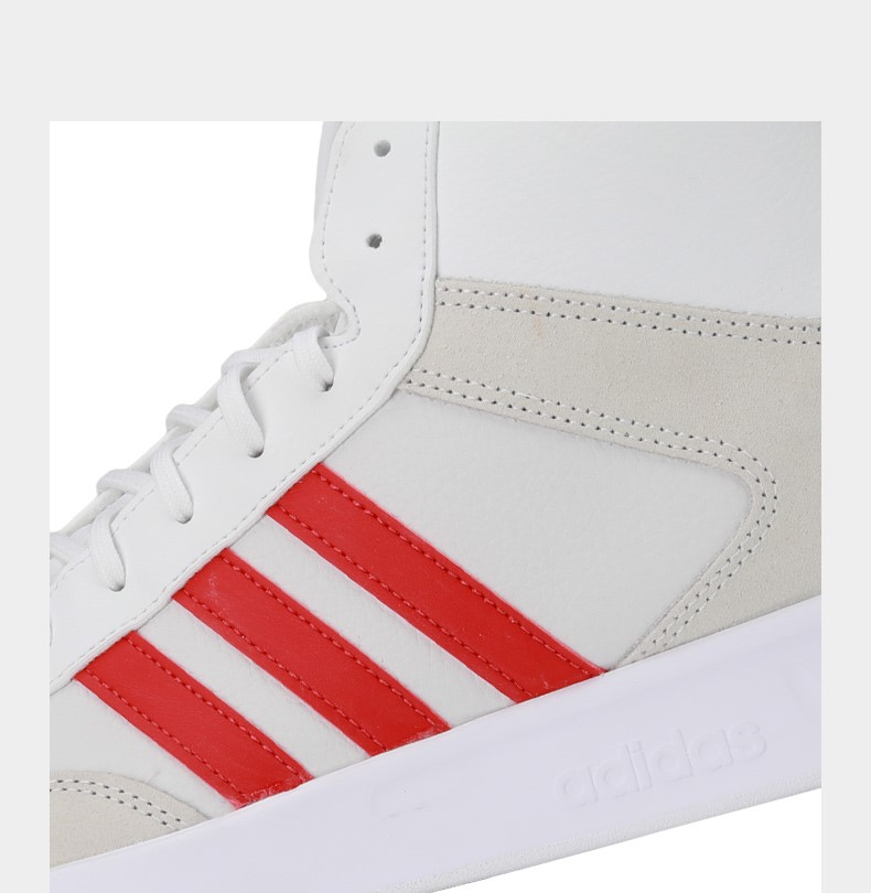 阿迪达斯网球鞋鞋码_【阿迪达斯adidasEPE35米色/白色/红色】adidas阿迪达斯中性COURT80S MID ...