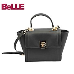 Ist belle/百丽箱包冬季专柜同款黑色人造革手提包Y3104DX6